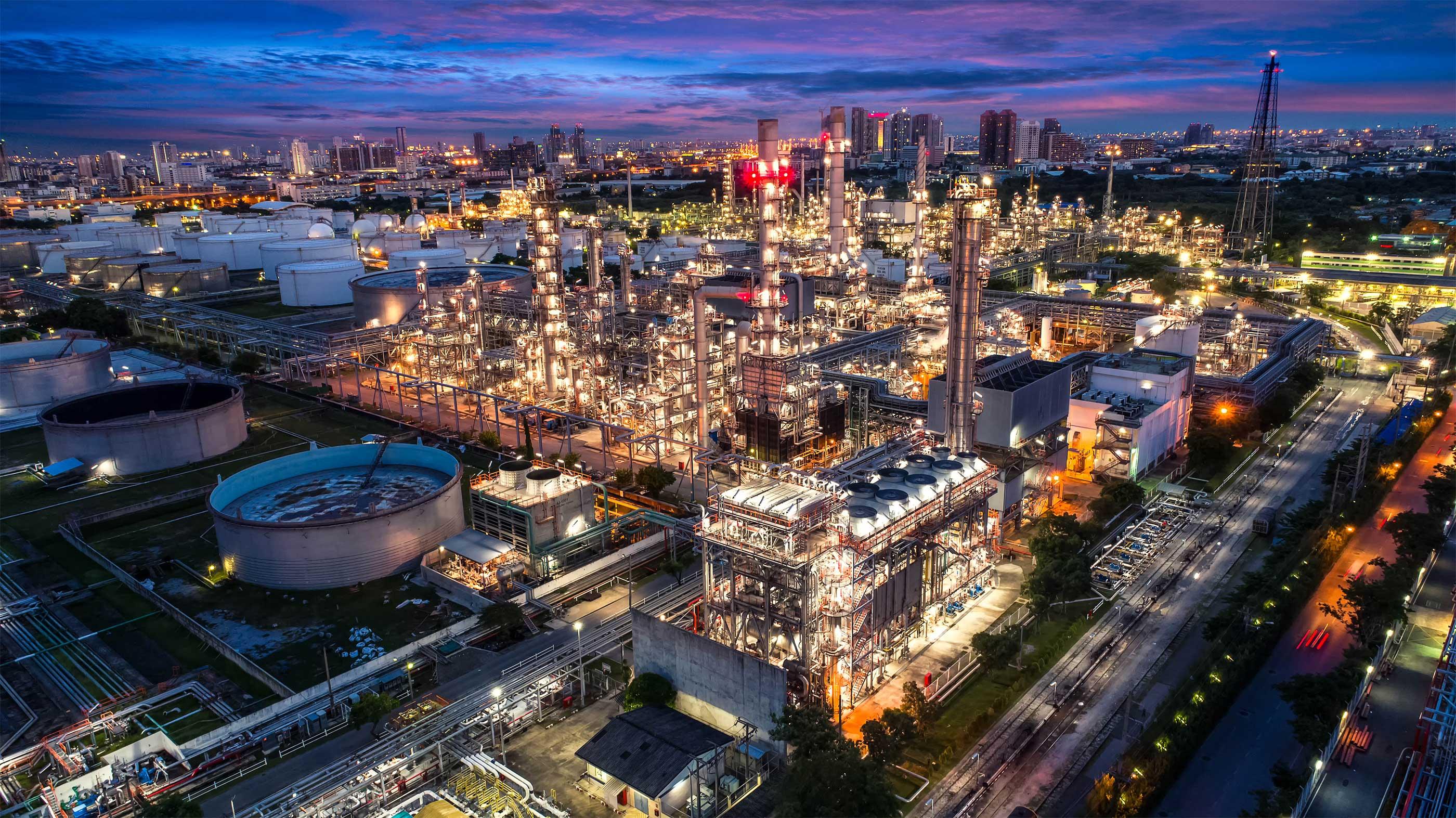 City landscape - Major Oil