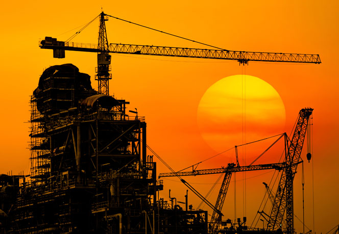 Construction site in the sunset - Hytroc