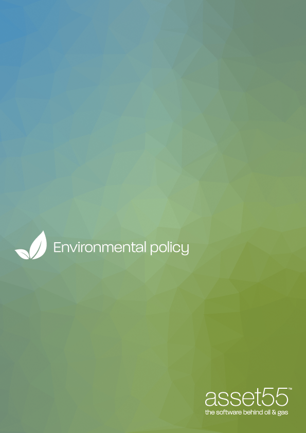 Asset55 Environmental policy PDF cover