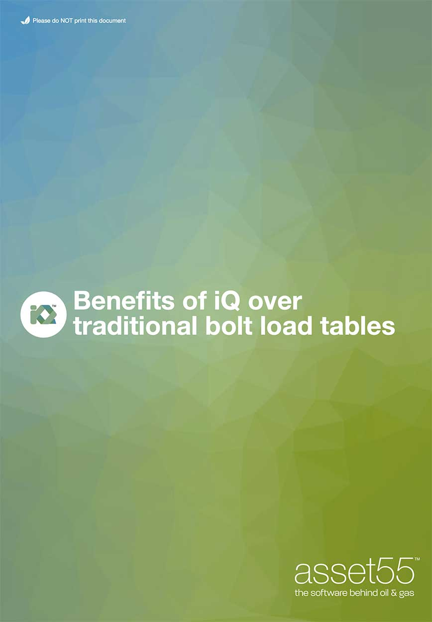 iQ - benefits of iQ over traditional bolt load tables
